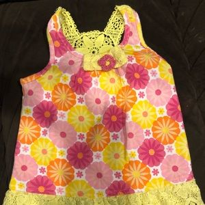 Nannette toddler girls size 24M crochet tank